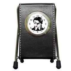 Wednesday Addams Pen Holder Desk Clocks