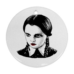 Wednesday Addams Round Ornament (Two Sides)