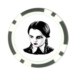 Wednesday Addams Poker Chip Card Guard (10 pack)