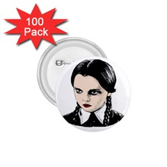 Wednesday Addams 1.75  Buttons (100 pack)