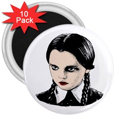 Wednesday Addams 3  Magnets (10 pack)