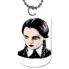Wednesday Addams Dog Tag (One Side)