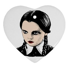 Wednesday Addams Heart Ornament (Two Sides)