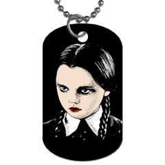 Wednesday Addams Dog Tag (two Sides)