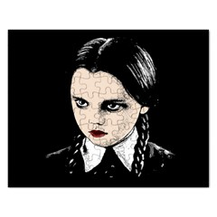 Wednesday Addams Rectangular Jigsaw Puzzl