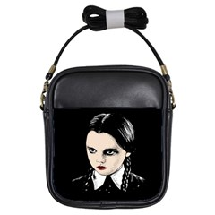 Wednesday Addams Girls Sling Bags