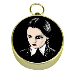 Wednesday Addams Gold Compasses