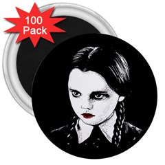 Wednesday Addams 3  Magnets (100 pack)
