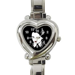 Wednesday Addams Heart Italian Charm Watch