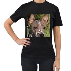 American Hairless Terrier Women s T-Shirt (Black) (Two Sided)