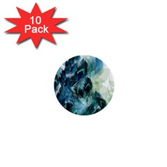 Flowers And Feathers Background Design 1  Mini Buttons (10 pack)