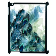 Flowers And Feathers Background Design Apple iPad 2 Case (Black)