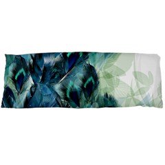 Flowers And Feathers Background Design Body Pillow Case Dakimakura (Two Sides)