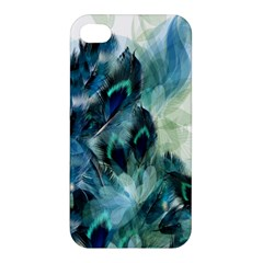 Flowers And Feathers Background Design Apple iPhone 4/4S Premium Hardshell Case