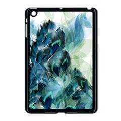 Flowers And Feathers Background Design Apple iPad Mini Case (Black)