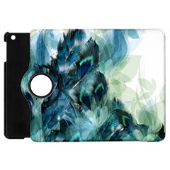 Flowers And Feathers Background Design Apple iPad Mini Flip 360 Case