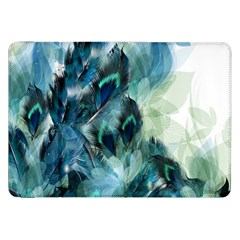 Flowers And Feathers Background Design Samsung Galaxy Tab 8.9  P7300 Flip Case