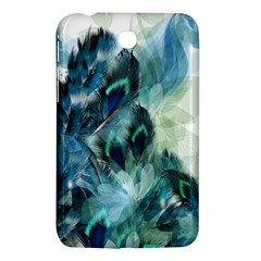 Flowers And Feathers Background Design Samsung Galaxy Tab 3 (7 ) P3200 Hardshell Case