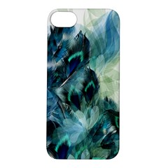 Flowers And Feathers Background Design Apple iPhone 5S/ SE Hardshell Case
