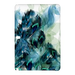 Flowers And Feathers Background Design Samsung Galaxy Tab Pro 10.1 Hardshell Case