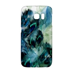 Flowers And Feathers Background Design Galaxy S6 Edge