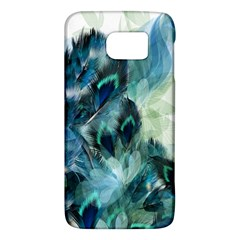 Flowers And Feathers Background Design Galaxy S6