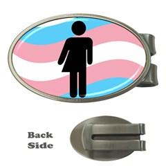 Transgender  Money Clips (Oval)