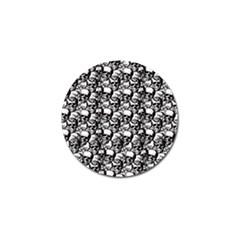 Skulls pattern  Golf Ball Marker (4 pack)