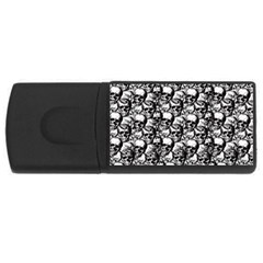 Skulls pattern  USB Flash Drive Rectangular (1 GB)