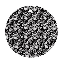 Skulls pattern  Round Ornament (Two Sides)