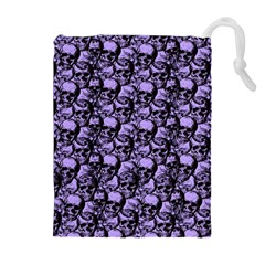 Skulls pattern  Drawstring Pouches (Extra Large)
