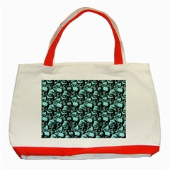 Skulls pattern  Classic Tote Bag (Red)