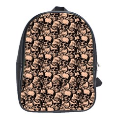 Skulls pattern  School Bags(Large)