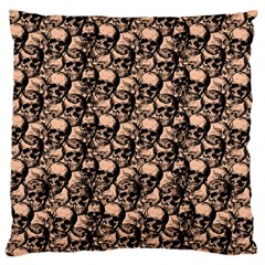 Skulls pattern  Standard Flano Cushion Case (Two Sides)