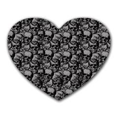 Skulls pattern  Heart Mousepads