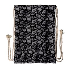 Skulls pattern  Drawstring Bag (Large)