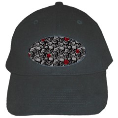 Skulls and roses pattern  Black Cap