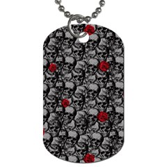 Skulls and roses pattern  Dog Tag (One Side)