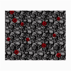 Skulls and roses pattern  Small Glasses Cloth (2-Side)