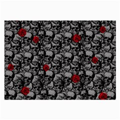Skulls and roses pattern  Large Glasses Cloth (2-Side)