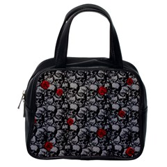 Skulls and roses pattern  Classic Handbags (One Side)
