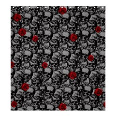 Skulls and roses pattern  Shower Curtain 66  x 72  (Large)