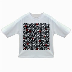 Skulls and roses pattern  Infant/Toddler T-Shirts
