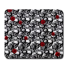 Skulls and roses pattern  Large Mousepads
