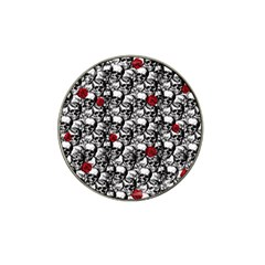 Skulls and roses pattern  Hat Clip Ball Marker (10 pack)