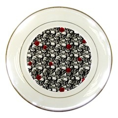 Skulls and roses pattern  Porcelain Plates