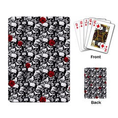 Skulls and roses pattern  Playing Card