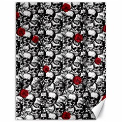 Skulls and roses pattern  Canvas 18  x 24