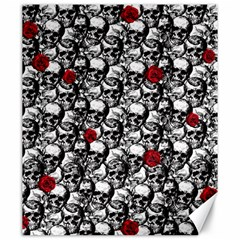 Skulls and roses pattern  Canvas 20  x 24