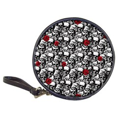 Skulls and roses pattern  Classic 20-CD Wallets